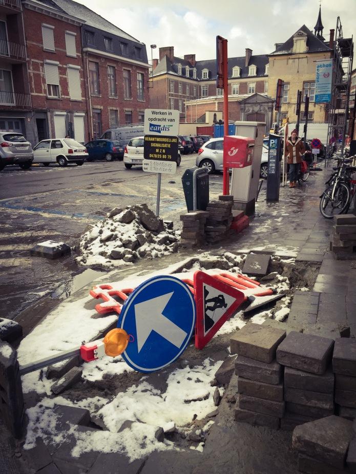 Leuven Damiaanplein. Te Voet in de Stad. Foto Hendrik Elie Vanden Abeele