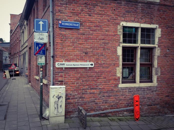 Schepenstraat Redingenstraat Leuven Te Voet in de Stad Hendrik Elie Vanden Abeele