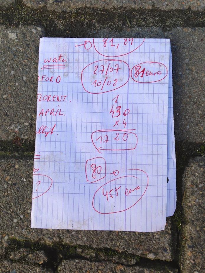 Brainstorm. Rode balpen. Te Voet in de Stad. Hendrik Elie Vanden Abeele