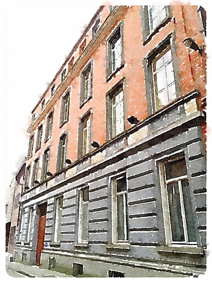 Huis Bethlehem Leuven Schapenstraat. Foto Hendrik Elie Vanden Abeele. Te Voet in de Stad