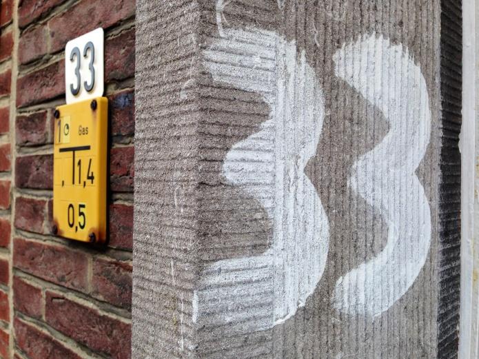 Koeien van cijfers. Te Voet in de Stad. Foto Hendrik Elie Vanden Abeele