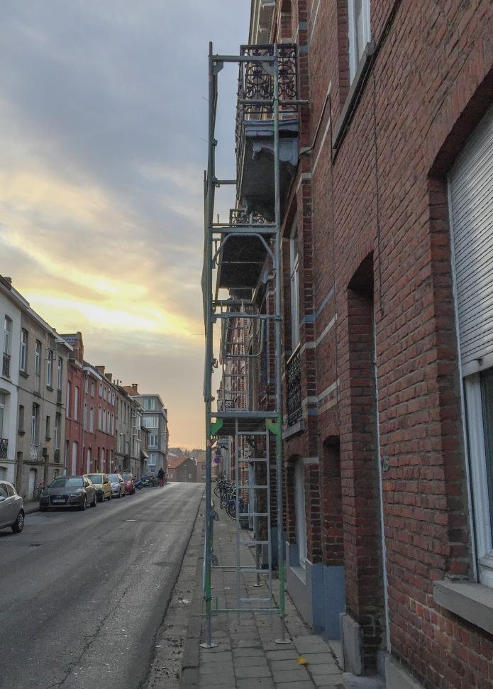 Stelling en Stoep. Te Voet in de Stad. Foto Hendrik Elie Vanden Abeele