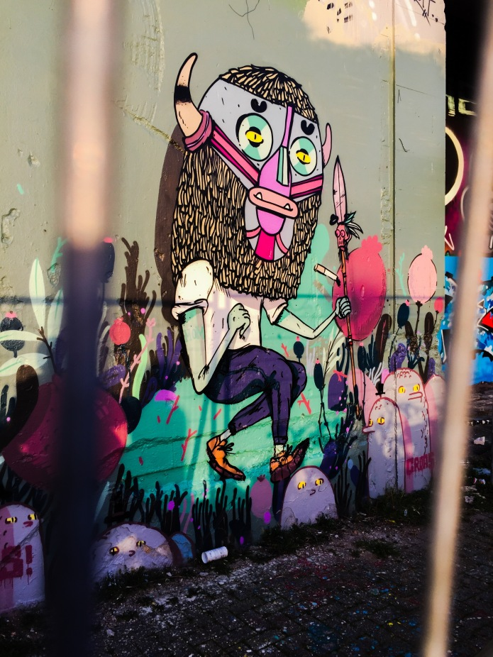 Graffiti Leiden. Te Voet in de Stad. Foto Hendrik Elie Vanden Abeele