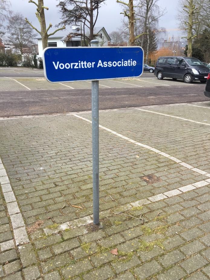 Voorzitter Associatie. Te Voet in de Stad. Foto Hendrik Elie Vanden Abeele