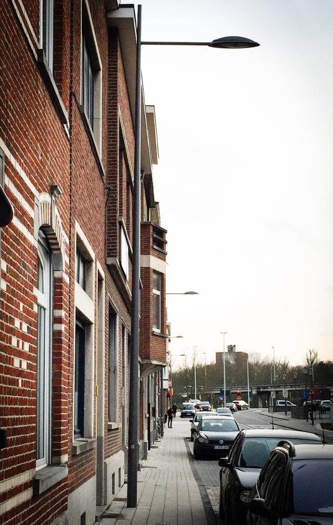 Verlichtingspaal. Te Voet in de Stad. Foto Hendrik Vanden Abeele