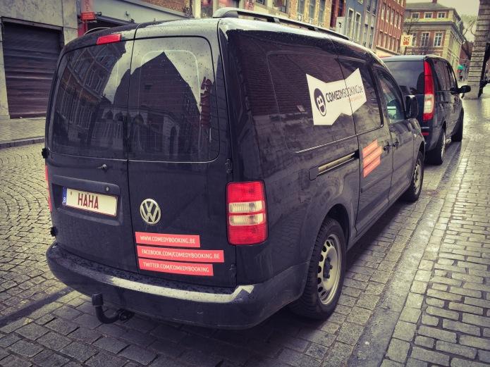 Comedybooking. Te Voet in de Stad. Foto Hendrik Elie Vanden Abeele