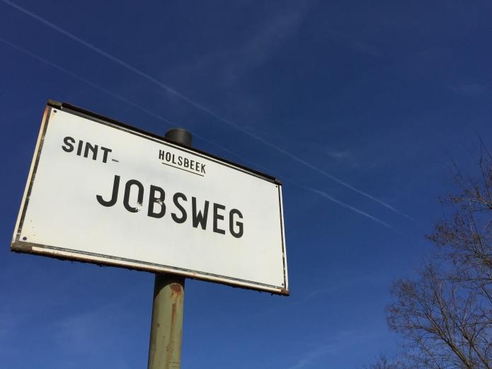 Steve Jobs. Te Voet in de Stad. Foto Hendrik Elie Vanden Abeele