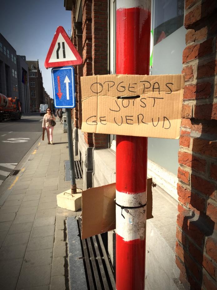 Geverfd. Te Voet in de Stad. Foto Hendrik Elie Vanden Abeele