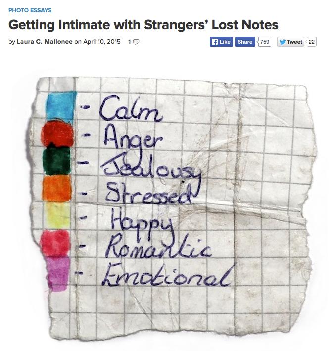 Strangers' Lost Notes. Te Voet in de Stad. Daisy Bentley