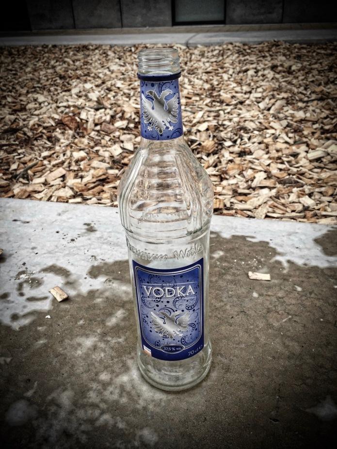 Booz #1 Colruyt Vodka. Te Voet in de Stad Hendrik Vanden Abeele. Leuven, Sint-Maartensdal, 7 maart 2015