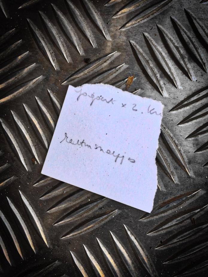 Groundtext #59. Rectumsnoepjes. Leuven, Volmolenlaan, 19 februari 2015. Te Voet in de Stad. Hendrik Vanden Abeele