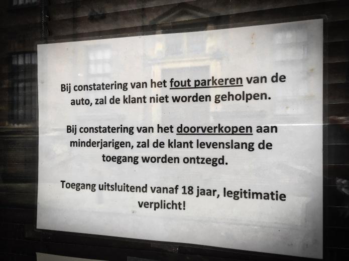 Leiden, Lange Scheiestraat, 8 februari 2015. Te Voet in de Stad. Hendrik Vanden Abeele