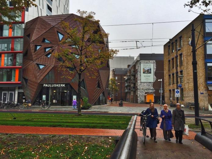Pauluskerk. Rotterdam, Mauritsweg, 6 oktober 2015, Foto Hendrik Elie Vanden Abeele. Te Voet in de Stad
