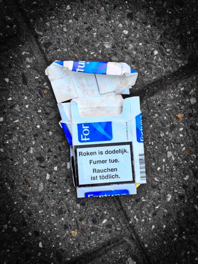 Nicotiana #2 Fortuna. Leuven, Brusselsestraat, 7 februari 2015, Foto Hendrik Elie Vanden Abeele. Te Voet in de Stad,