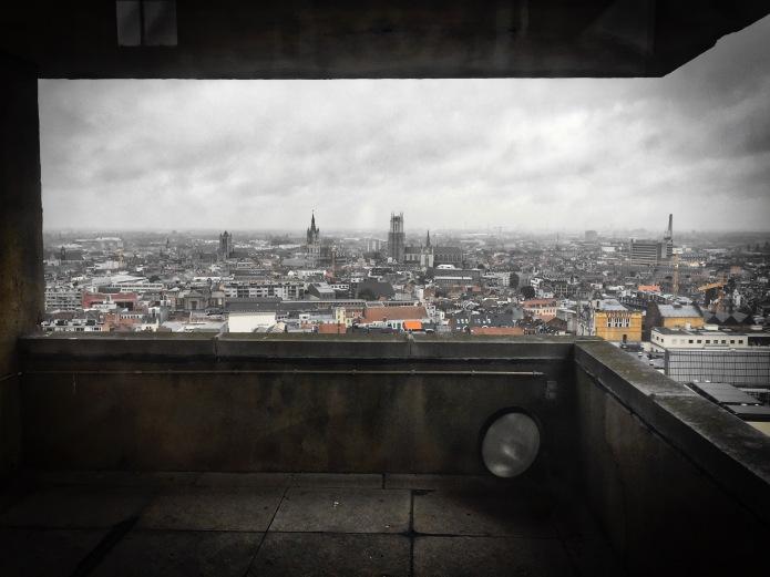 Panorama. Gent, van op de 'Boekentoeren', 22 juni 2015, Foto Hendrik Elie Vanden Abeele. Te Voet in de Stad