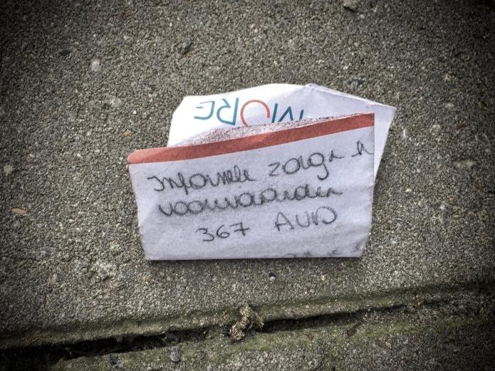 Groundtext #104 Informele zorg en zo? Leuven, Janseniusstraat, 7 maar 2015. Te Voet in de Stad. Hendrik Vanden Abeele