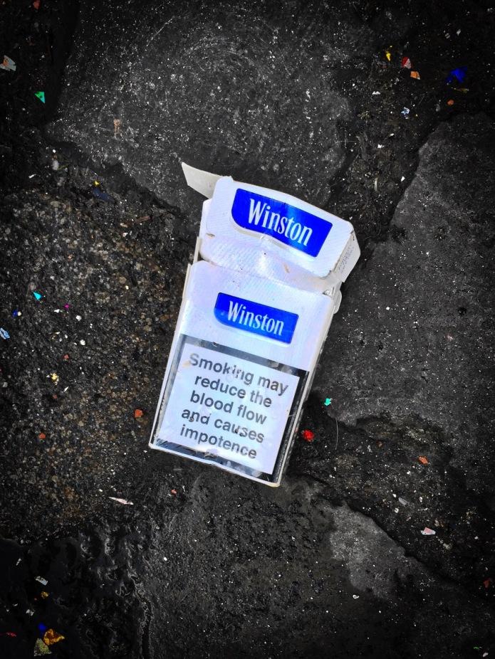 Nicotiana #6 Winston. Leuven, Handbooghof, 31 januari 2015, Foto Hendrik Elie Vanden Abeele. Te Voet in de Stad