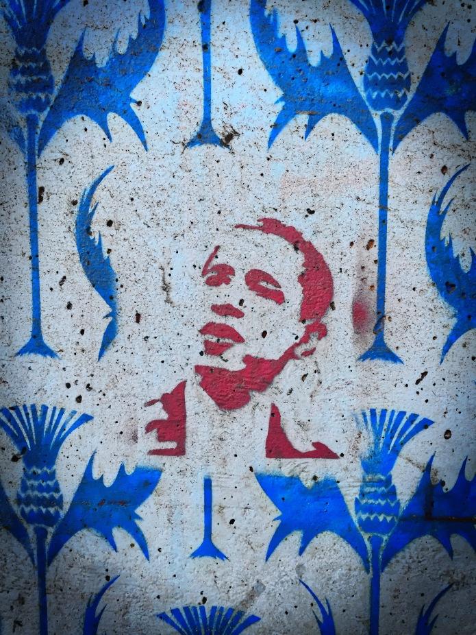 Teken aan de wand #55 Obama. Leuven, onder de Tervuursevest, 20 december 2015, Foto Hendrik Elie Vanden Abeele. Te Voet in de Stad