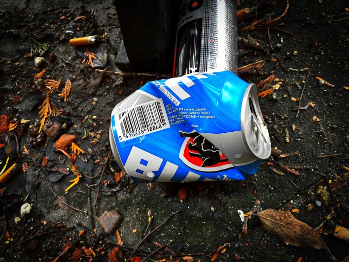Booz #27 Jupiler Blue. Leuven, Kapucijnenvoer, 2 februari 2015, Foto Hendrik Elie Vanden Abeele. Te Voet in de Stad