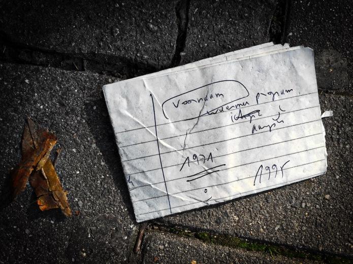 Groundtext #122 Voornaamheid. Leuven, Dirk Boutslaan, 6 september 2015, Foto Hendrik Elie Vanden Abeele. Te Voet in de Stad