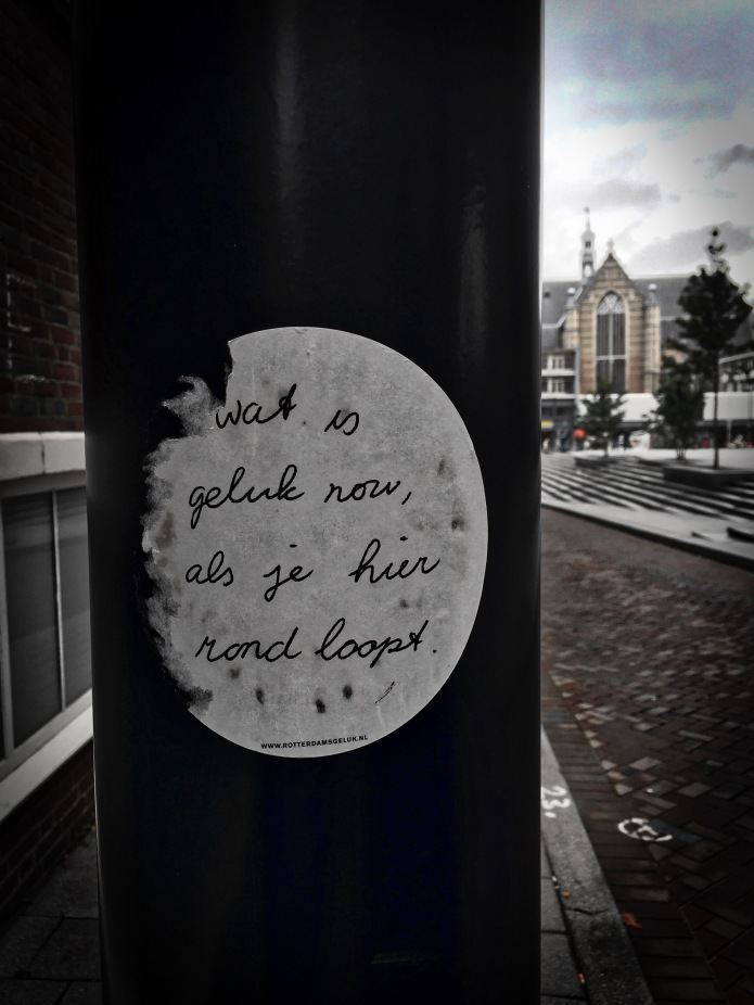 Plakkatief #21 Rotterdam, Ds. Jan Scharpstraat, 6 oktober 2015, Foto Hendrik Elie Vanden Abeele. Te Voet in de Stad